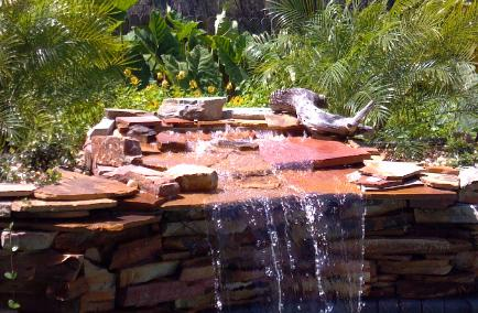 Pool Works Natural Stone And Rock Waterfeatures Rock Planters