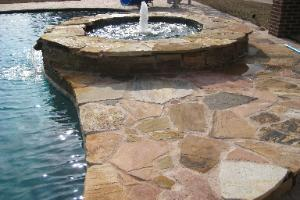 pool works | natural stone and rock waterfeatures | rock planters