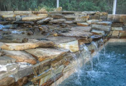 Pool Works Natural Stone And Rock Waterfeatures Rock